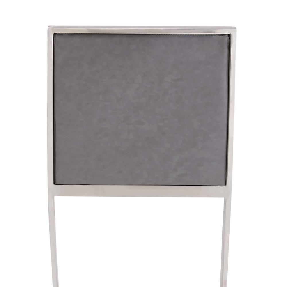 Pinellas Modern Grey Stainless Steel Bar and Counter Stool. Picture 6