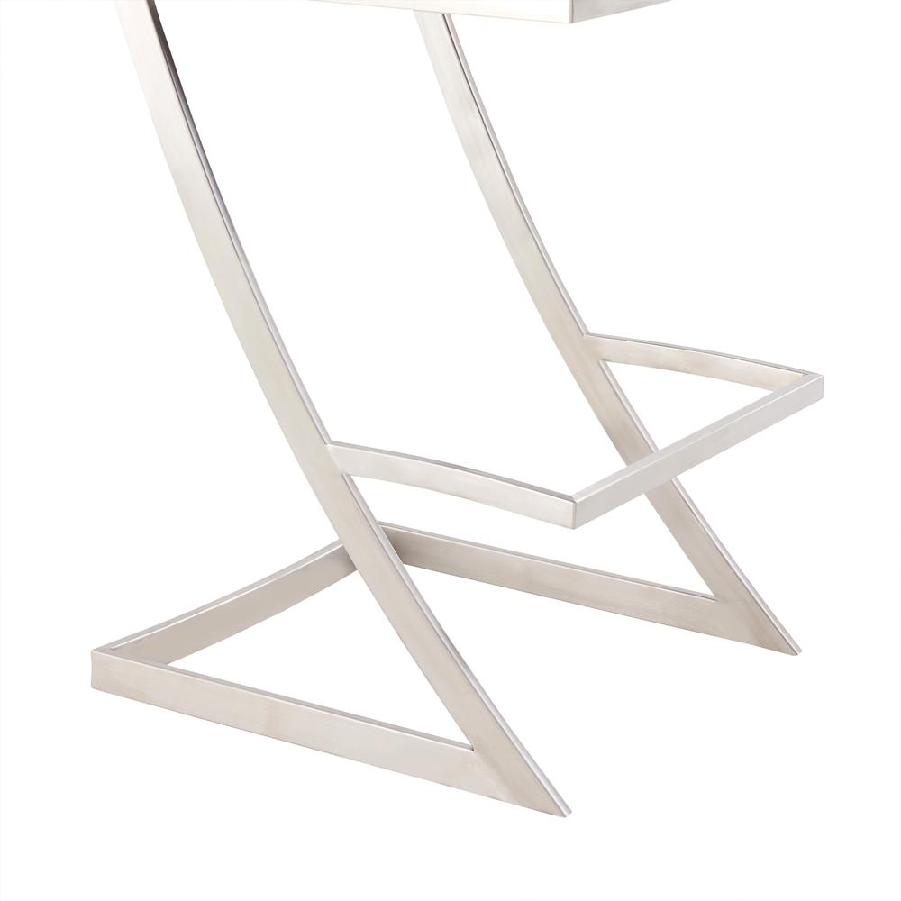 Pinellas Modern Grey Stainless Steel Bar and Counter Stool. Picture 8