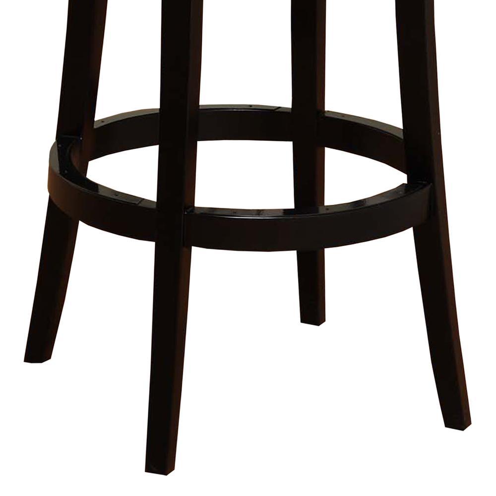 "Armen Living Boston Swivel Barstool In Black Bonded Leather 30"" seat height. Picture 3"