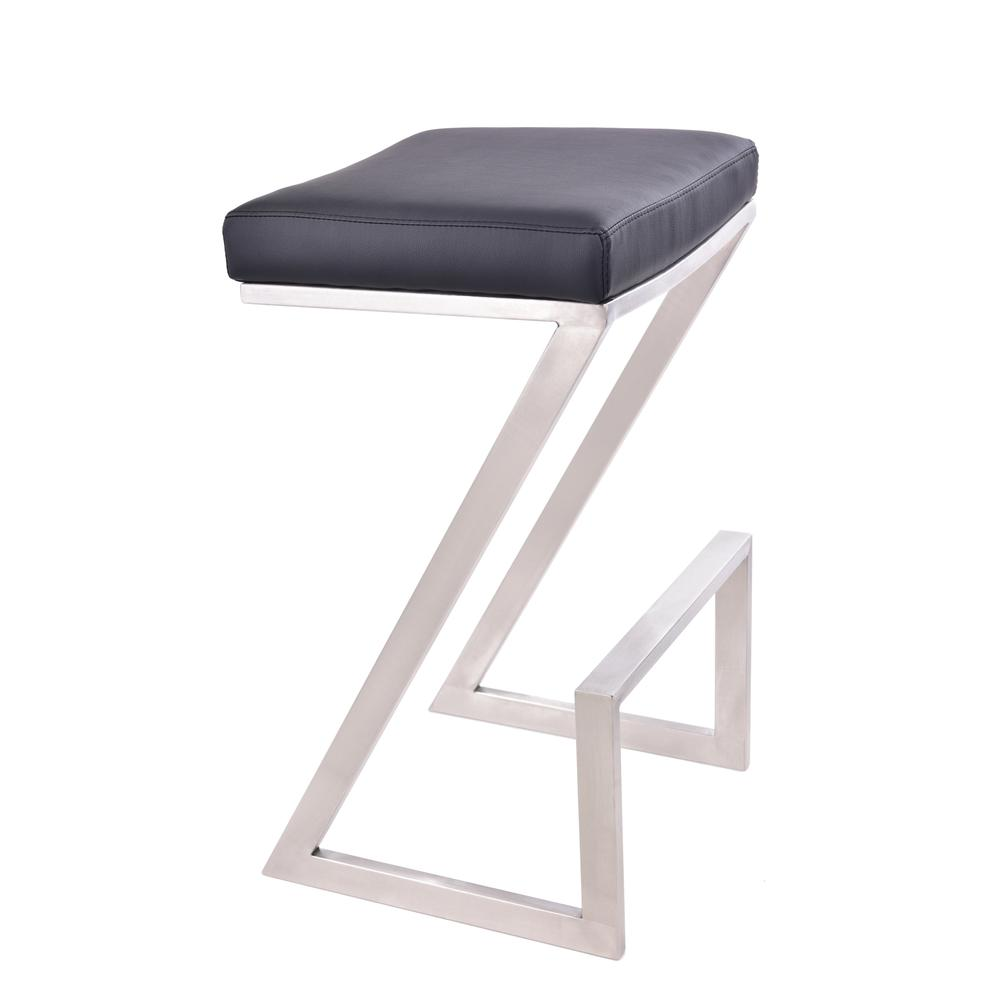 Atlantis 26 Quot Counter Height Backless Barstool In Brushed