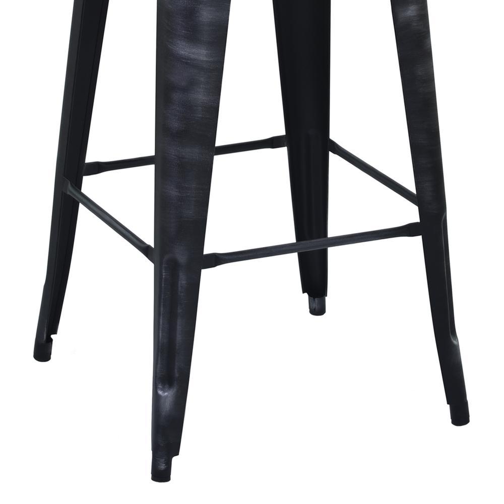 "Armen Living Berkley 26"" Barstool in Industrial Grey Steel finish. Picture 4"
