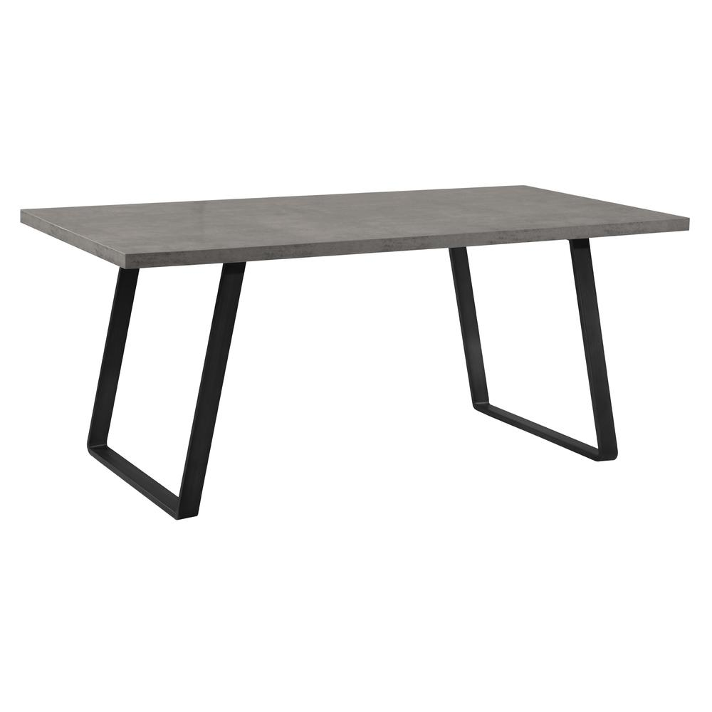 Contemporary Dining Table in Grey Powder Coated Finish with Cement Gray Top. Picture 1