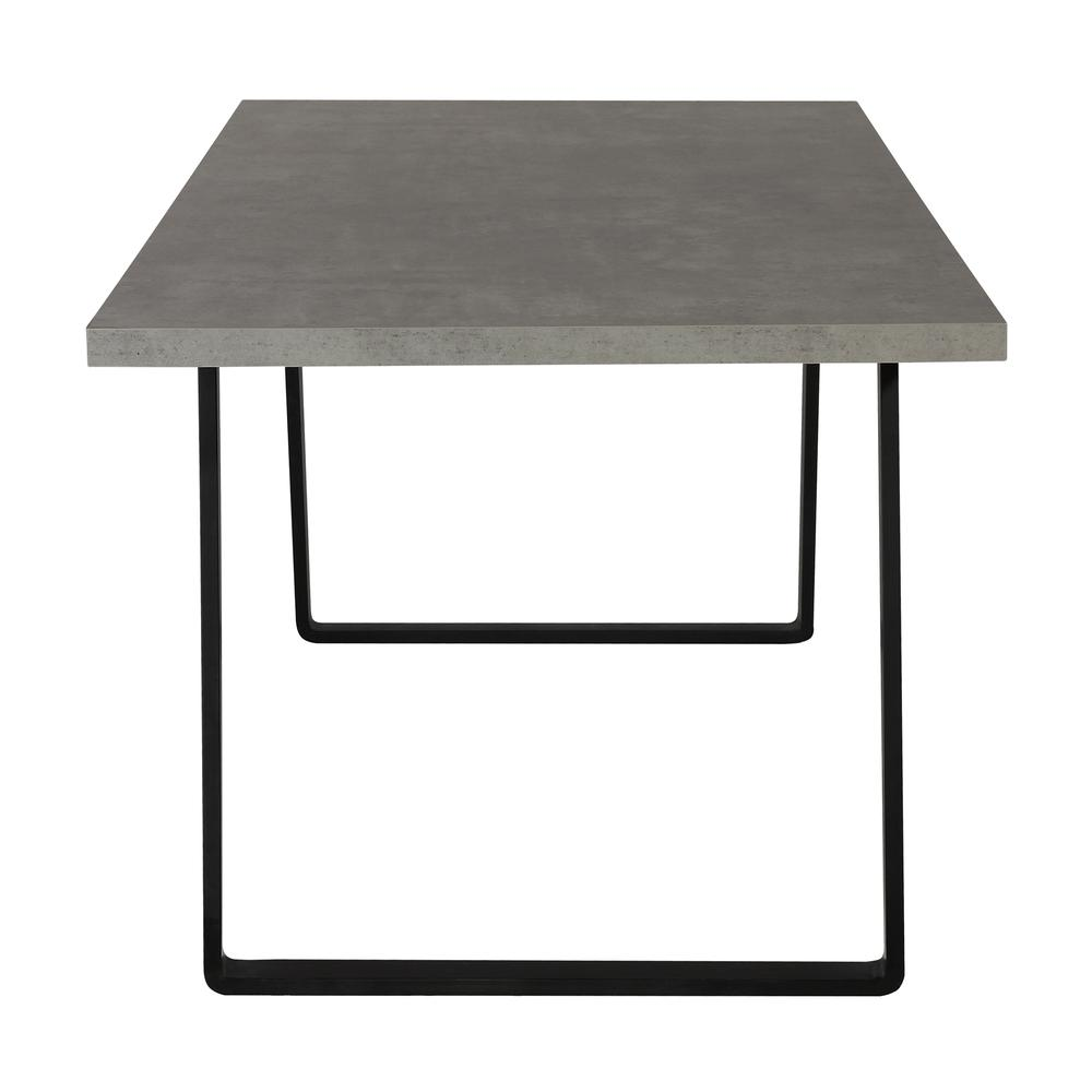Contemporary Dining Table in Grey Powder Coated Finish with Cement Gray Top. Picture 3