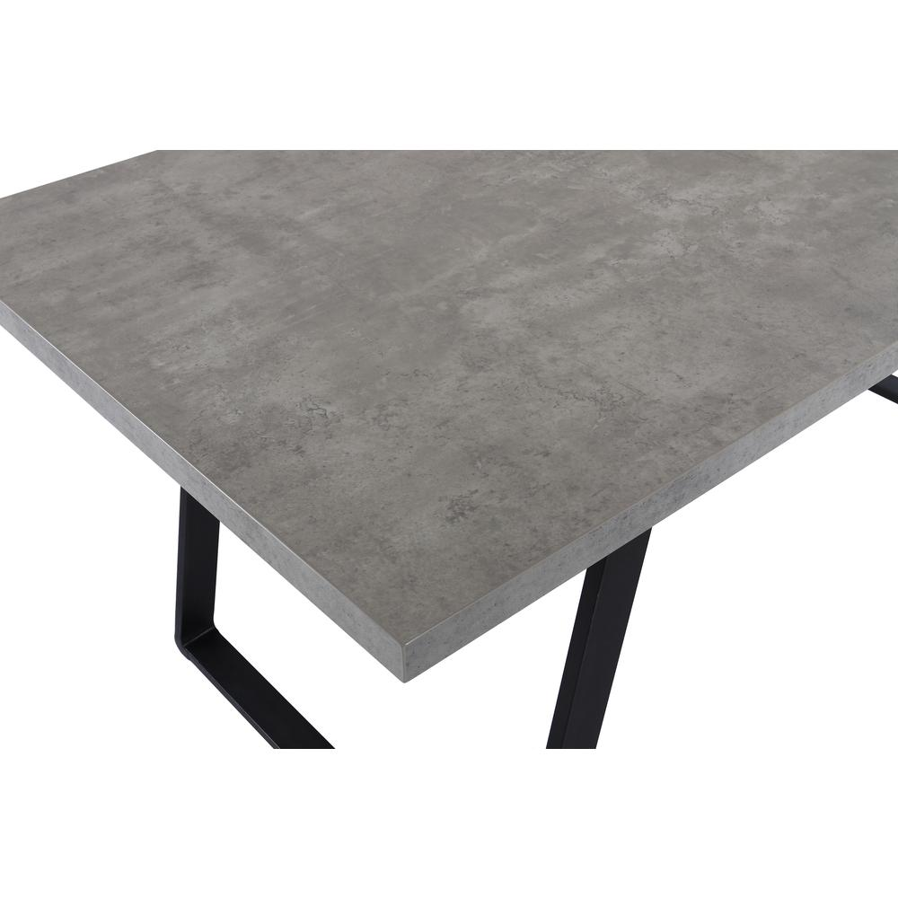 Contemporary Dining Table in Grey Powder Coated Finish with Cement Gray Top. Picture 4