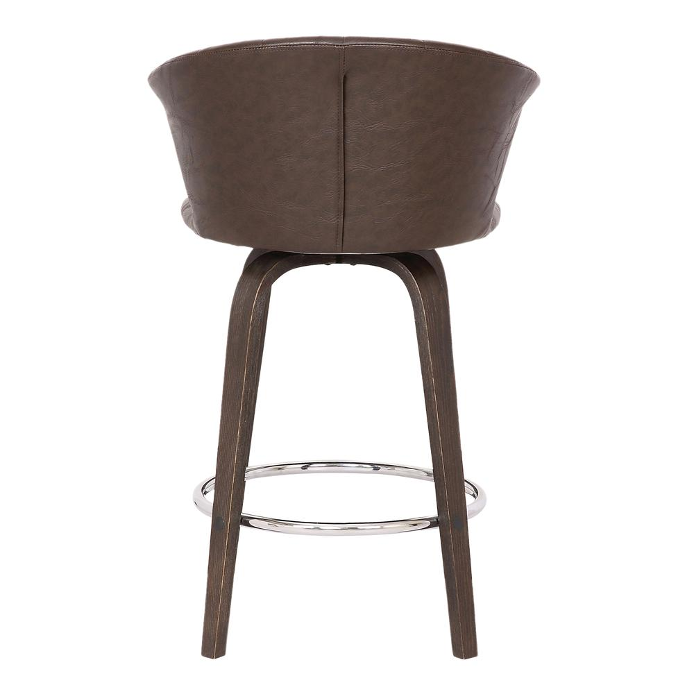 """Connie 26"""" Modern Brown Faux Leather Bar Stool. Picture 5"""