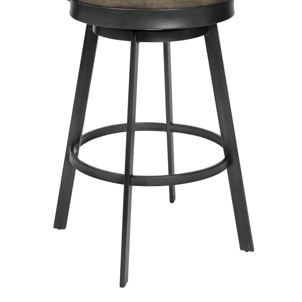 """30"""" Bar Height Barstool in Mineral Finish and Grey Walnut Seat. Picture 5"""