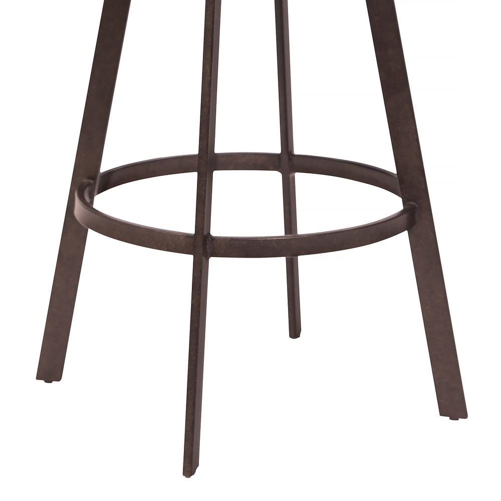 """30"""" Bar Height Barstool in Auburn Bay with Brown Faux Leather and Sedona Wood. Picture 5"""