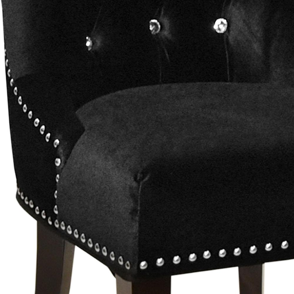 Armen Living Carlyle Tufted Velvet Side Chair with Nailhead Trim. Picture 2