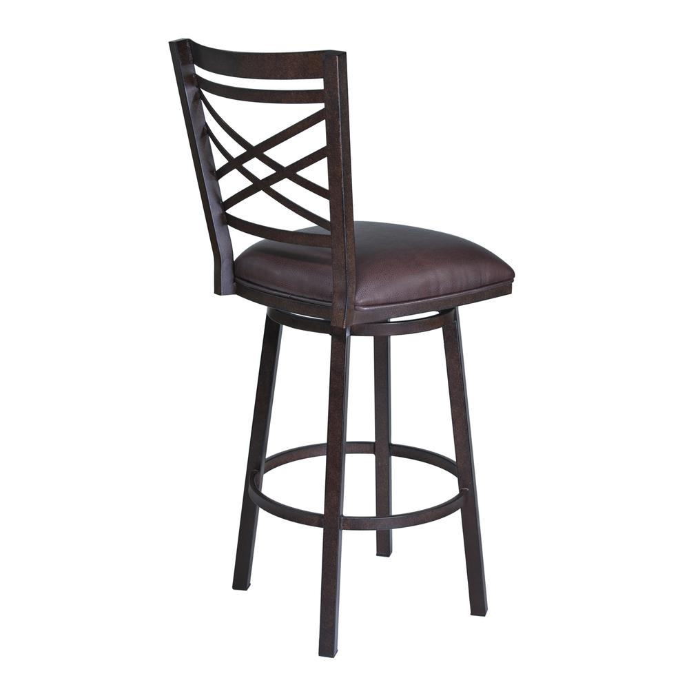 "Fargo 26"" Barstool in Auburn Bay finish with Brown Pu upholstery. Picture 2"