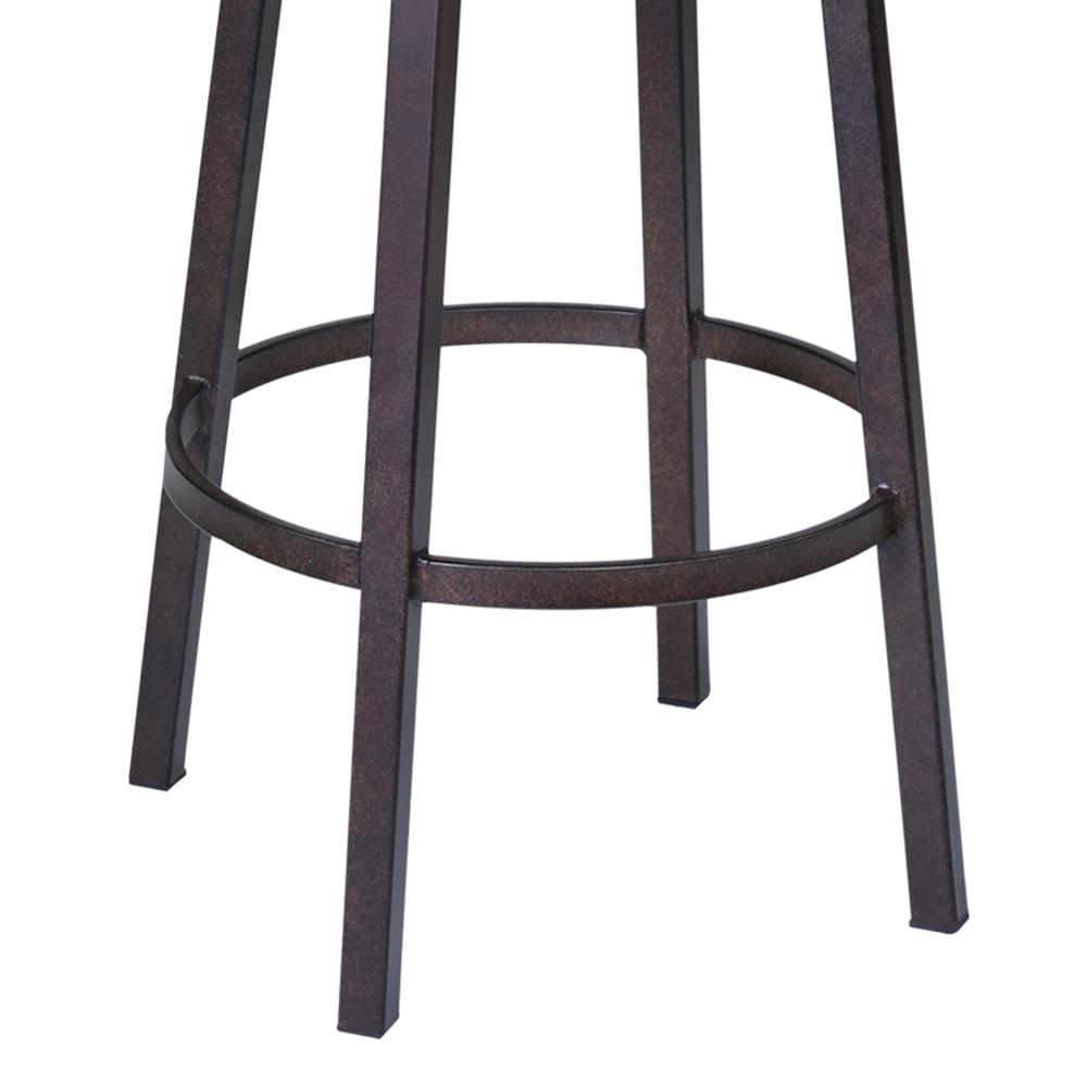 "Fargo 26"" Barstool in Auburn Bay finish with Brown Pu upholstery. Picture 4"