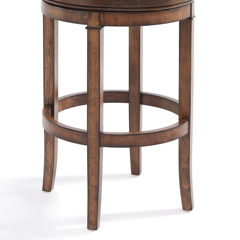 Greece 30 Quot Bar Height Swivel Wood Barstool In Chestnut