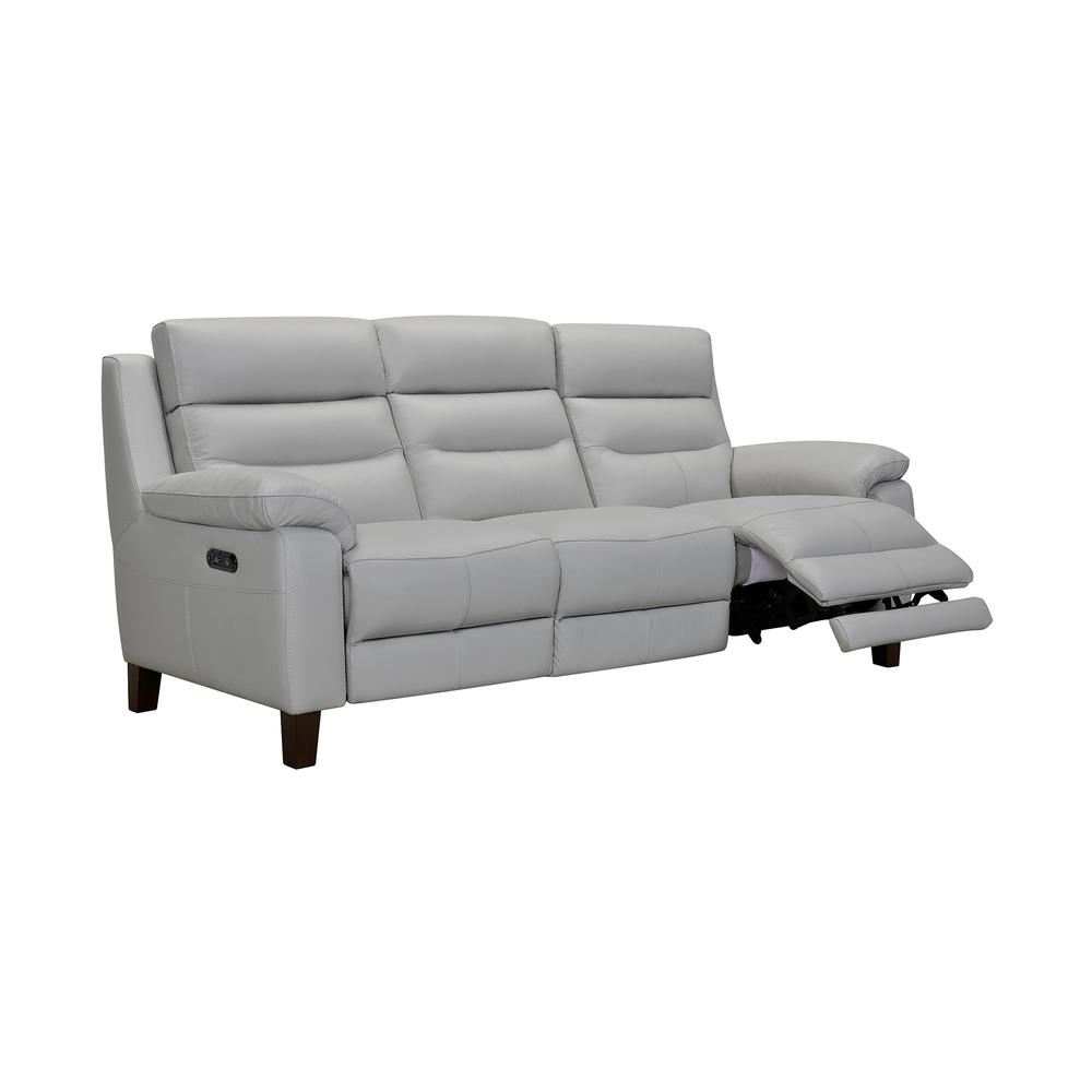 """Hayward 82"""" Dove Gray Leather Power Reclining Sofa, Dove Grey. Picture 1"""