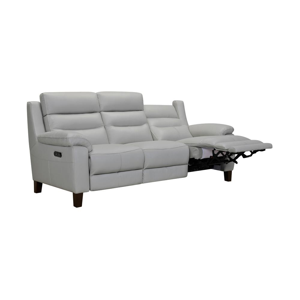"""Hayward 82"""" Dove Gray Leather Power Reclining Sofa, Dove Grey. Picture 3"""