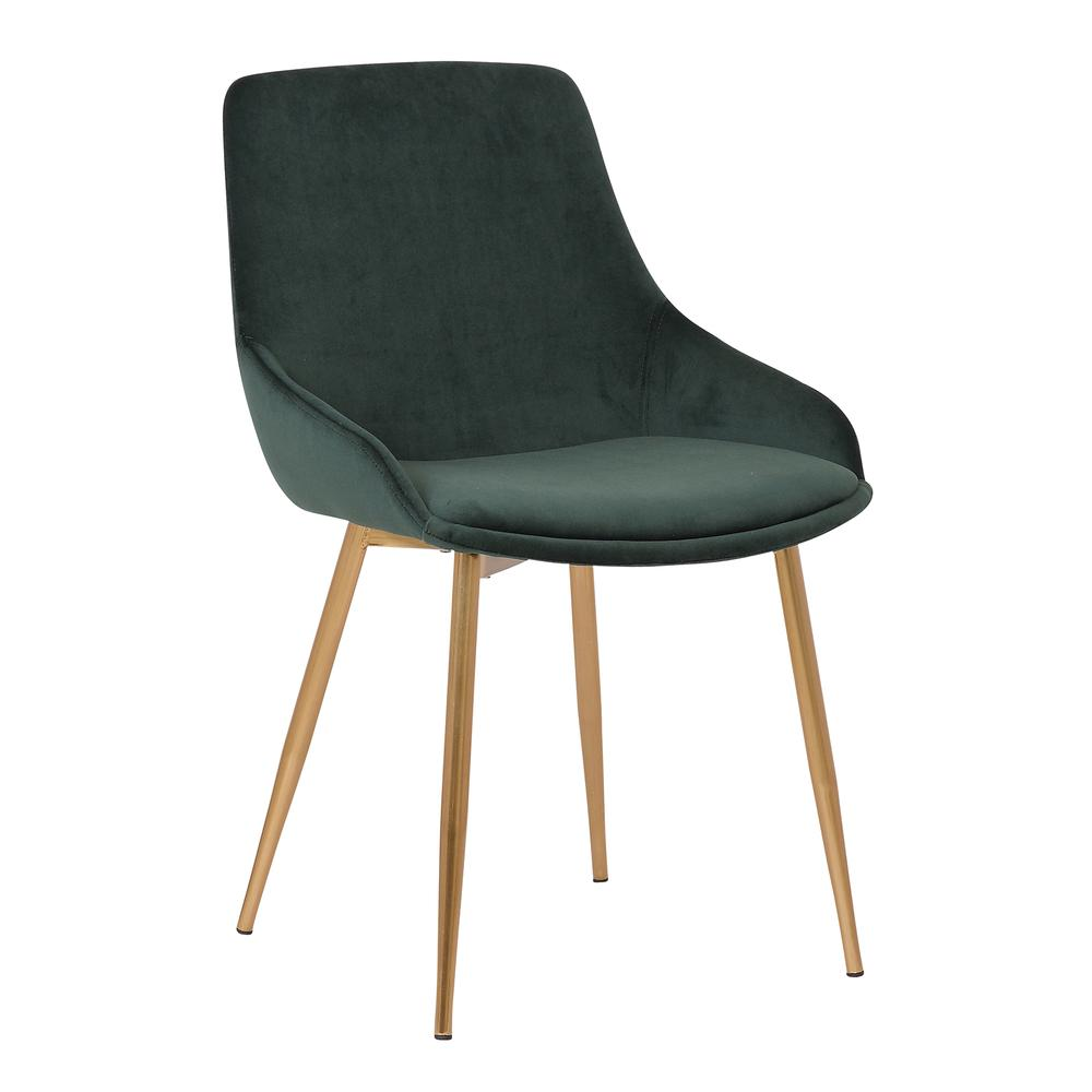 Velvet Dining Accent Chair. Picture 1