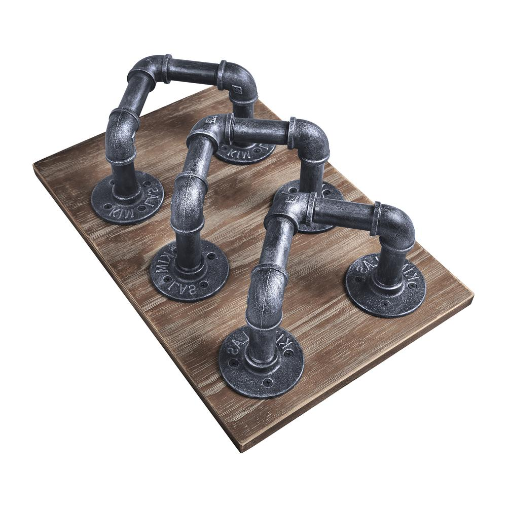 Industrial Wine Rack in Industrial Grey and Pine Wood. Picture 2