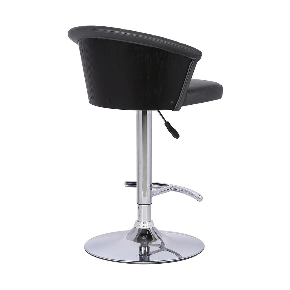 Adjustable Modern Grey Faux- Leather Bar Stool. Picture 4