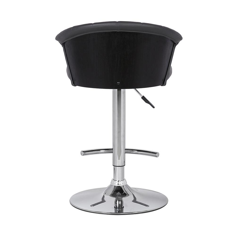 Adjustable Modern Grey Faux- Leather Bar Stool. Picture 5