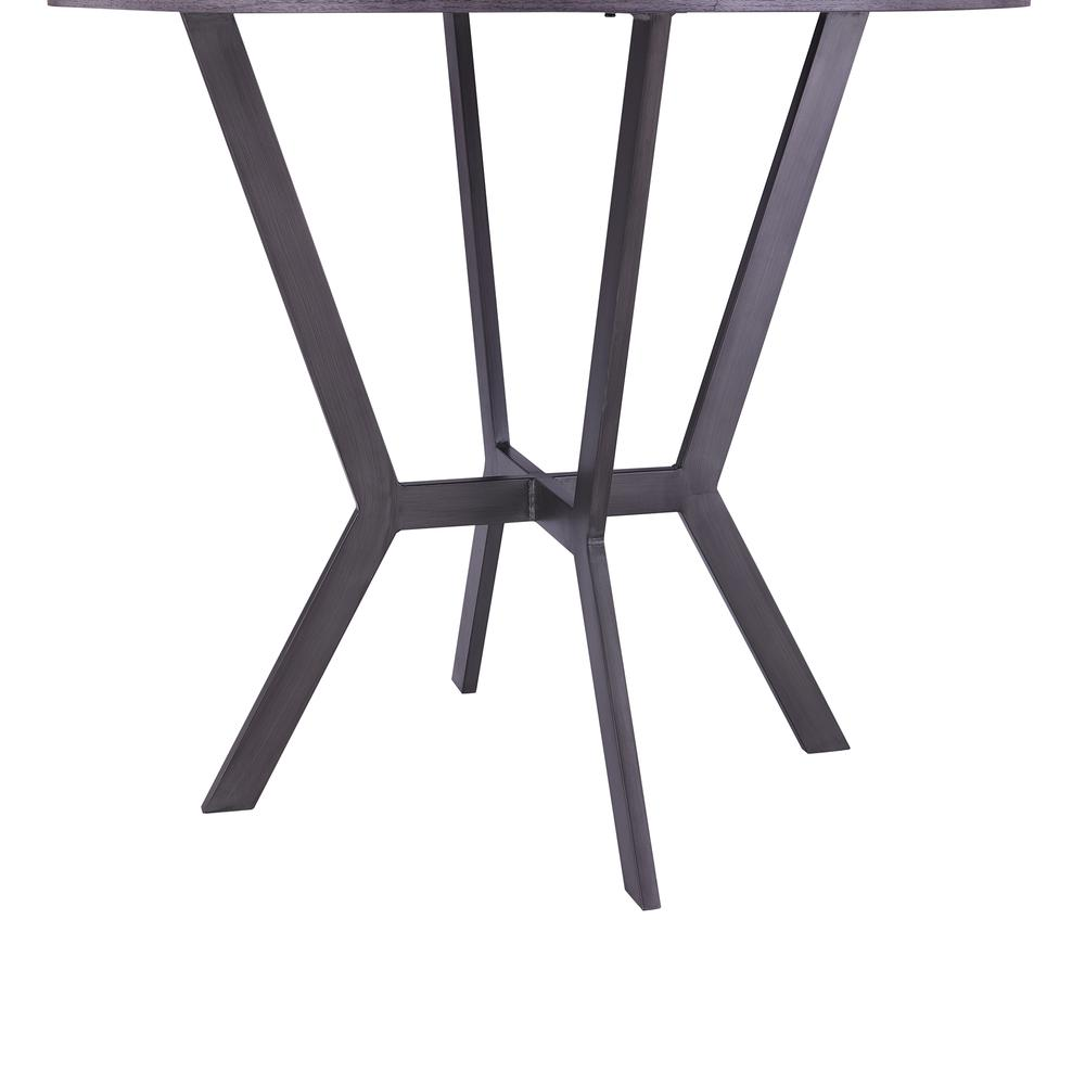 Contemporary Bar Table in Mineral Finish and Gray Walnut Top. Picture 2