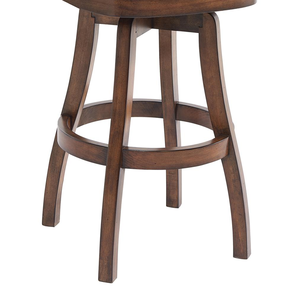 Raleigh 30 Bar Height Swivel Wood Barstool In Chestnut Finish And