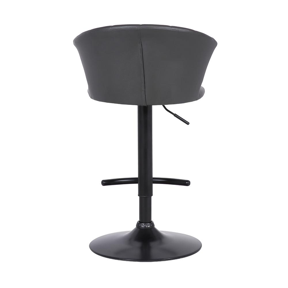 Raquel Adjustable Modern Grey Faux Leather Bar Stool. Picture 5