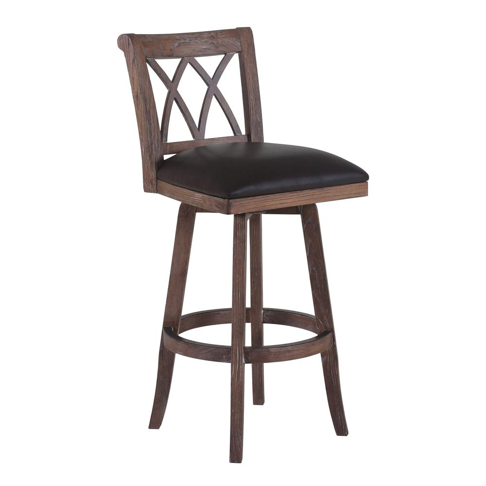 Sonoma 26 Quot Counter Height Swivel Wood Barstool In Wire
