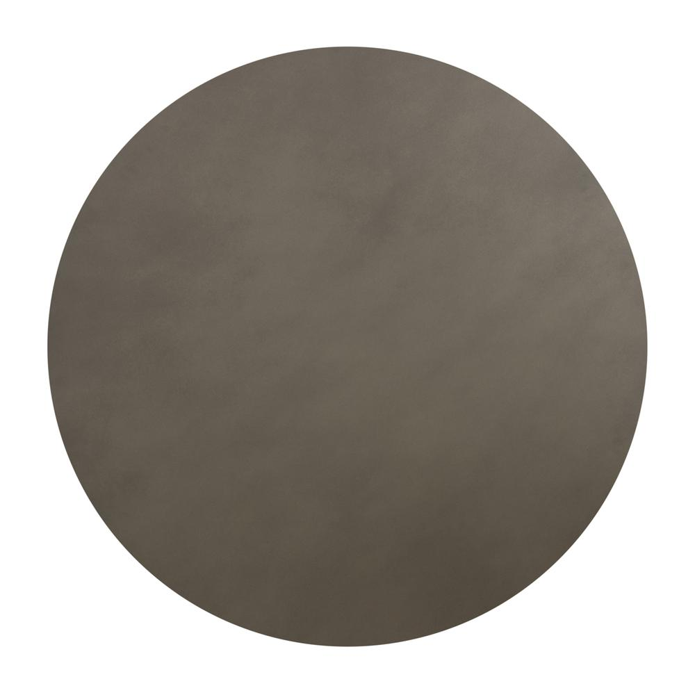 Pinni Grey Concrete Round Dining Table with Bronze Painted Accent, N/A. Picture 4