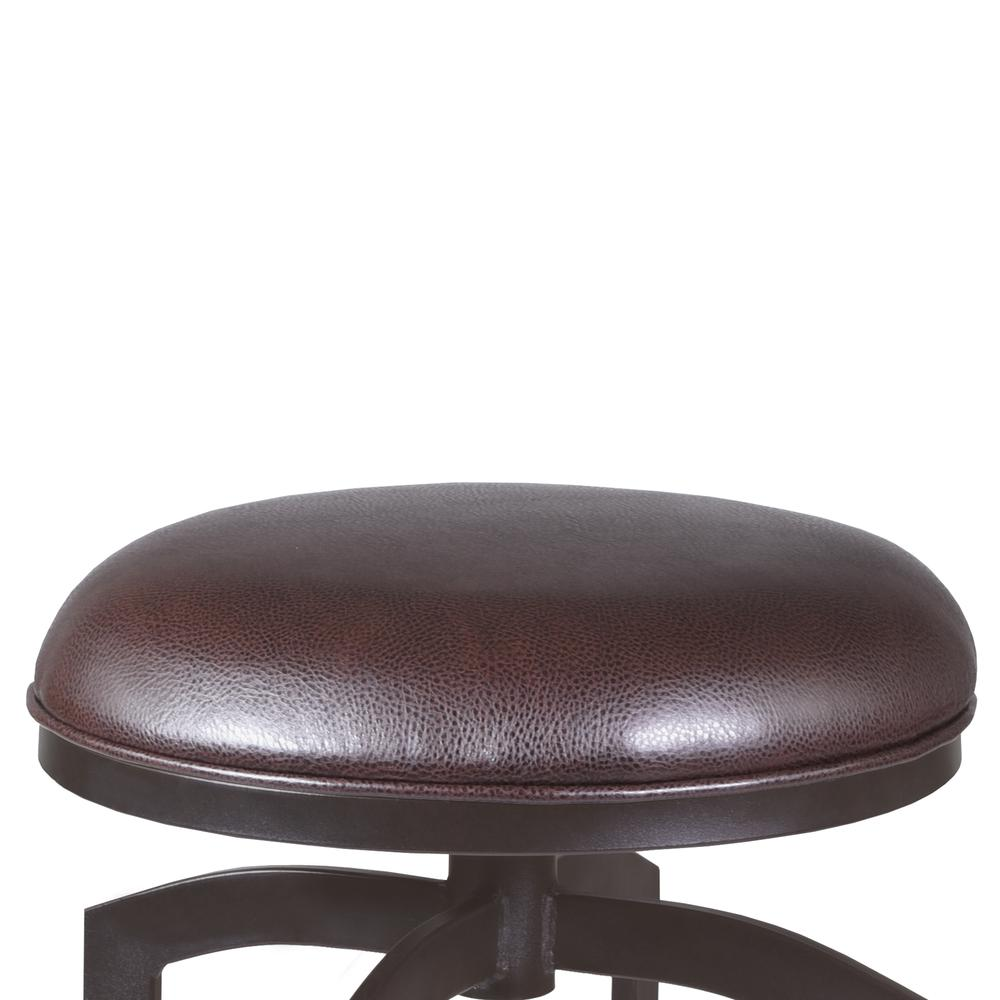 """Studio 26"""" Counter Height Barstool in Auburn Bay finish with Brown Faux Leather. Picture 2"""