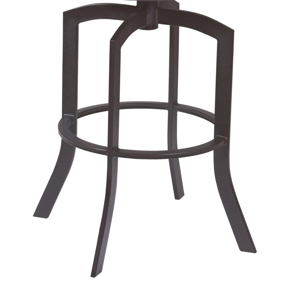 """Studio 26"""" Counter Height Barstool in Auburn Bay finish with Brown Faux Leather. Picture 3"""