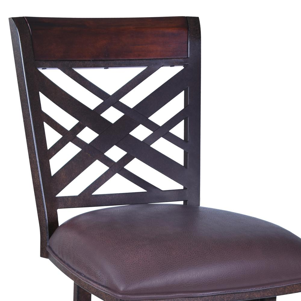 "26"" Barstool in Auburn Bay finish - Brown Pu upholstery. Picture 2"