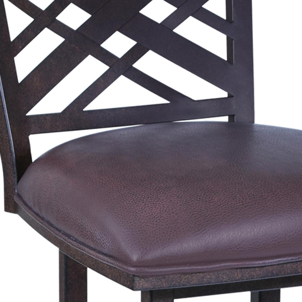 """Tahiti  30"""" Barstool in Auburn Bay finish with Brown Pu upholstery. Picture 3"""