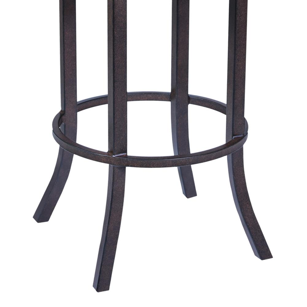 """Tahiti  30"""" Barstool in Auburn Bay finish with Brown Pu upholstery. Picture 4"""