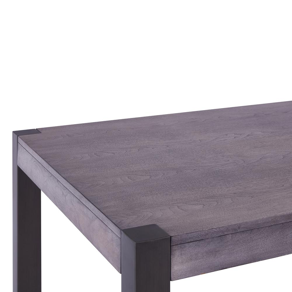 Contemporary Dining Table in Mineral Finish and Gray Walnut Top. Picture 3