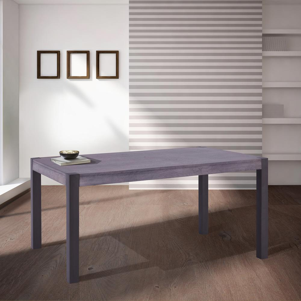 Contemporary Dining Table in Mineral Finish and Gray Walnut Top. Picture 5