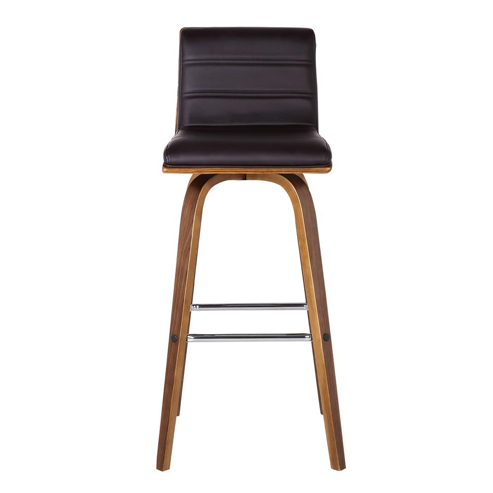 Vienna 26 Quot Counter Height Barstool In Walnut Wood Finish