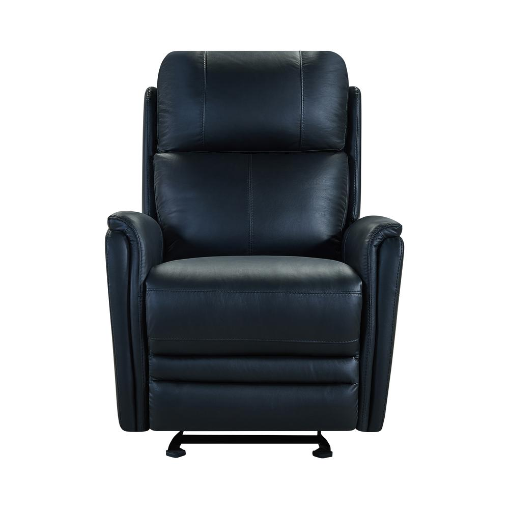 Contemporary Recliner in Black Genuine Leather. Picture 3