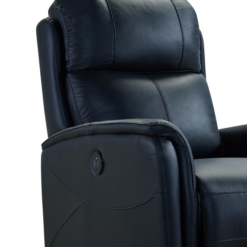 Contemporary Recliner in Black Genuine Leather. Picture 5