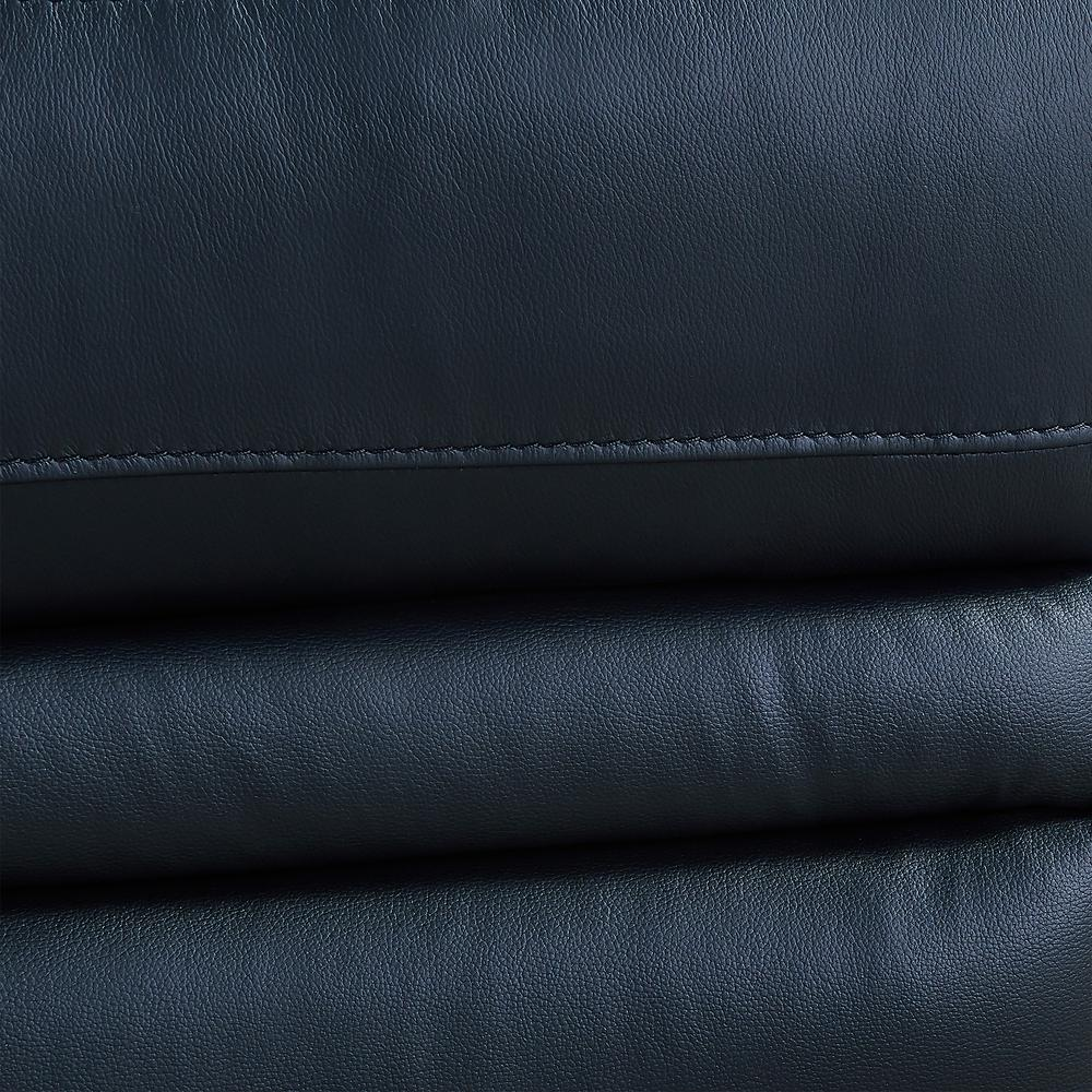 Contemporary Recliner in Black Genuine Leather. Picture 8