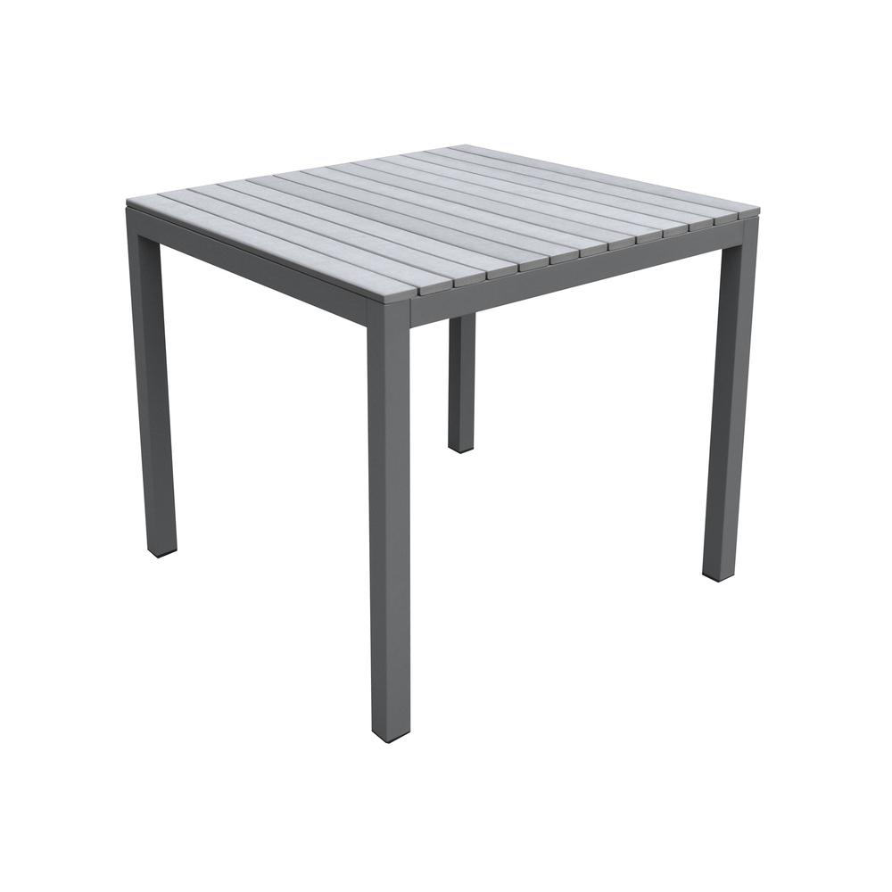 Dining Set Grey Powder Coated Finish (Table with 4 chairs). Picture 6
