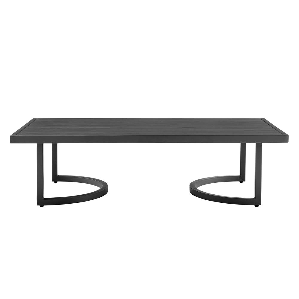 Valentina 4 Piece Dark Gray Aluminum Outdoor Seating Set with Dark Gray Cushions. Picture 6