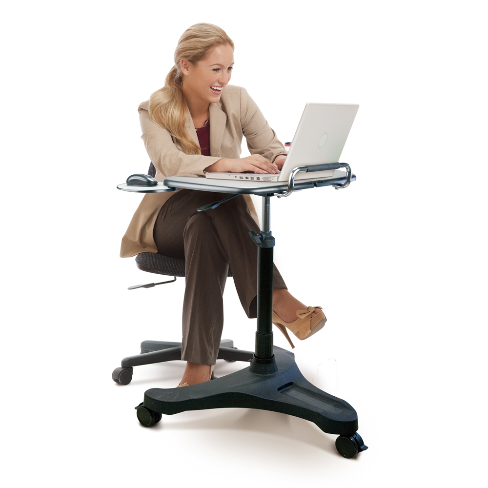 Sit/Stand Mobile Laptop Workstation. Picture 2