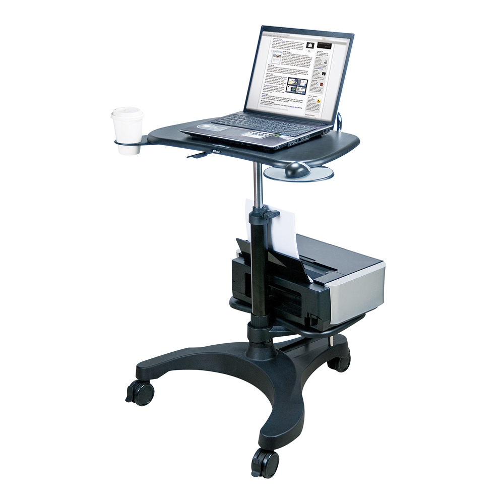 Sit/Stand Mobile Laptop Workstation w/Shelf. Picture 2