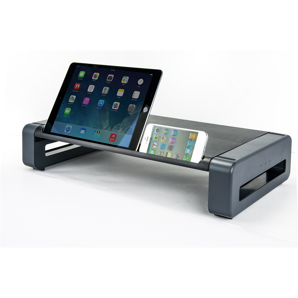 Deluxe Monitor Printer Stand W Smart Device Slot