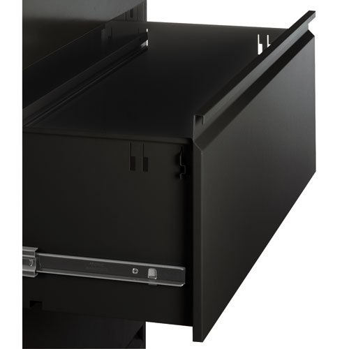 Four-Drawer Lateral File Cabinet, 42w x 18d x 52.5h, Black. Picture 2