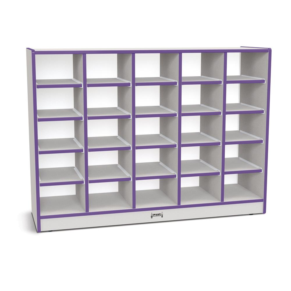 "Jonti-Craft Rainbow Accents Toddler Single Storage - 35.5"" Height x 48"" Width x 15"" Depth - Purple - Rubber - 1Each. Picture 1"