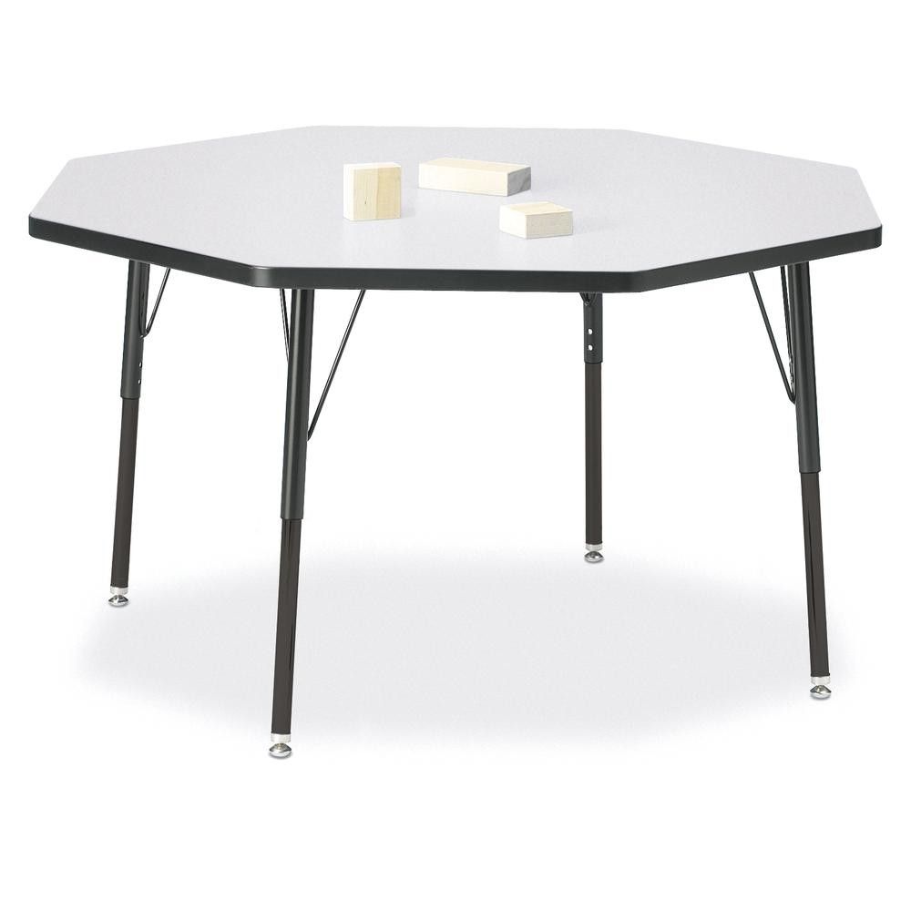 "Jonti-Craft Berries Adult Height Color Edge Octagon Table - Black Octagonal, Laminated Top - Four Leg Base - 4 Legs - 1.13"" Table Top Thickness x 48"" Table Top Diameter - 31"" Height - Assembly Require. Picture 1"