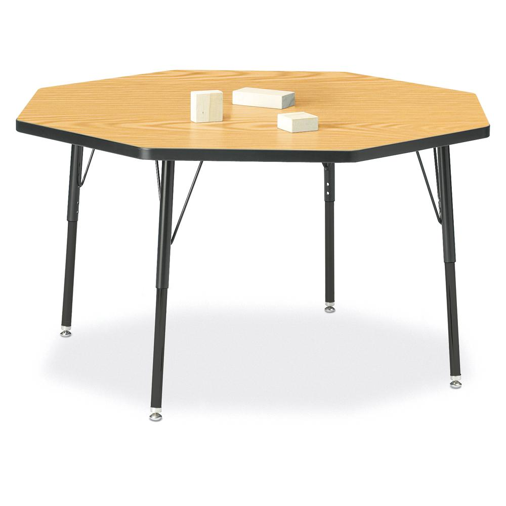 """Jonti-Craft Berries Adult Height Color Top Octagon Table - Black Oak Octagonal, Laminated Top - Four Leg Base - 4 Legs - 1.13"""" Table Top Thickness x 48"""" Table Top Diameter - 31"""" Height - Assembly Requ. Picture 1"""