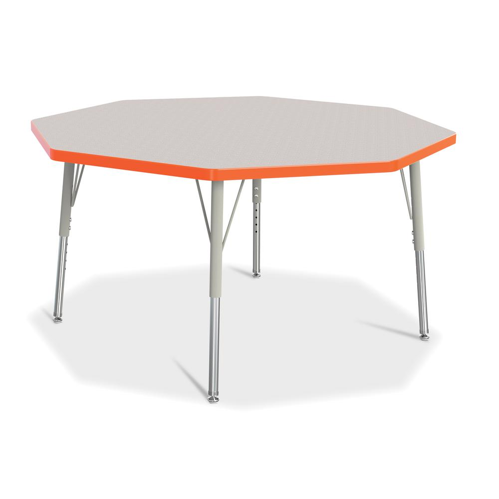 """Jonti-Craft Berries Elementary Height Color Edge Octagon Table - Laminated Octagonal, Orange Top - Four Leg Base - 4 Legs - 1.13"""" Table Top Thickness x 48"""" Table Top Diameter - 24"""" Height - Assembly R. Picture 1"""