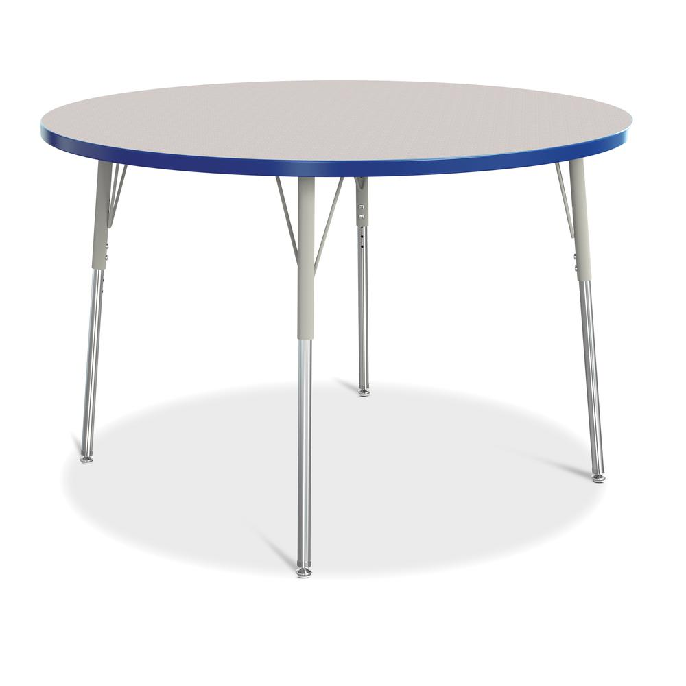 """Jonti-Craft Berries Adult Height Color Edge Round Table - Gray Round, Laminated Top - Four Leg Base - 4 Legs - 1.13"""" Table Top Thickness x 48"""" Table Top Diameter - 31"""" Height - Assembly Required - Pow. Picture 1"""