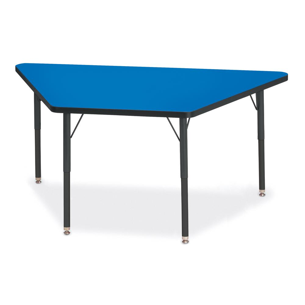 """Jonti-Craft Berries Adult-Size Classic Color Trapezoid Table - Blue Trapezoid, Laminated Top - Four Leg Base - 4 Legs - 60"""" Table Top Length x 30"""" Table Top Width x 1.13"""" Table Top Thickness - 31"""" Hei. Picture 1"""