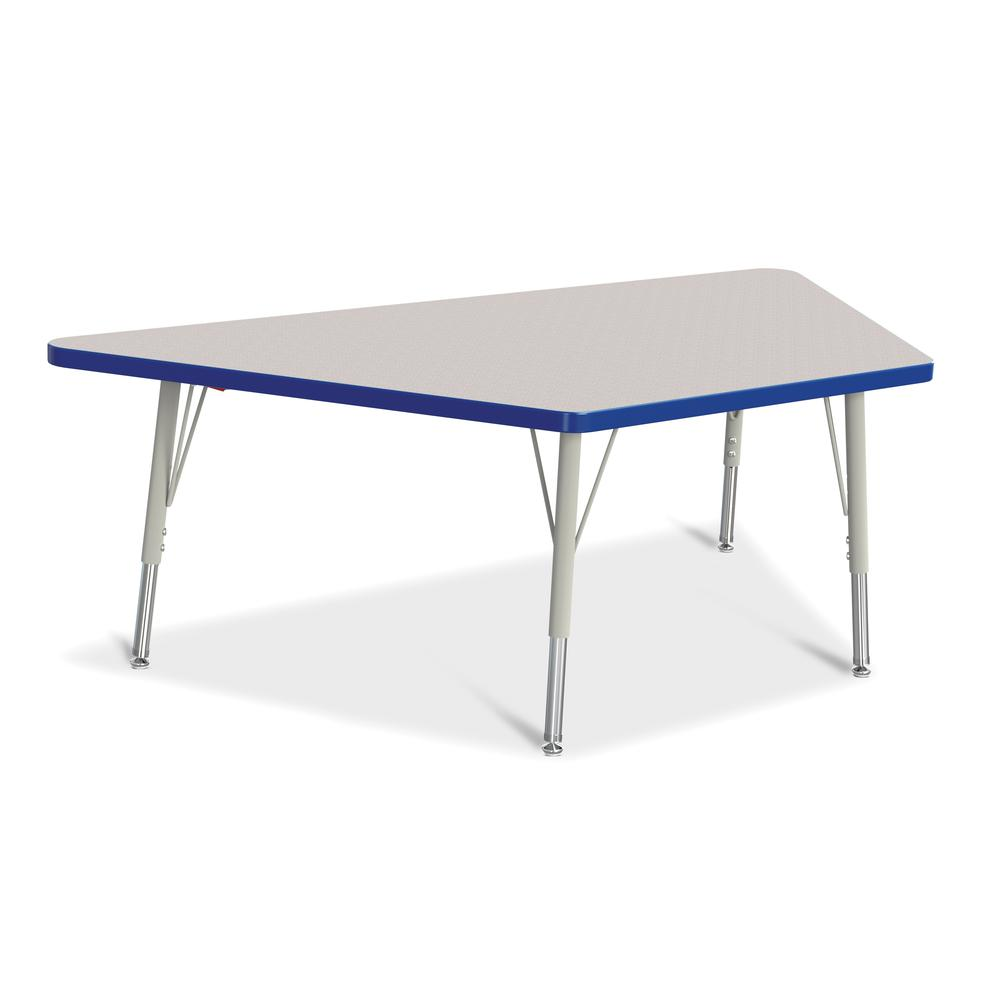 Trapezoid activity tables 30 x 60 mobile maple for Trapazoid table
